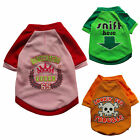 3 Colors Fashion Dog T-Shirt Tee Shirts SUMMER Pet Apparel Dog Clothes XS S M L