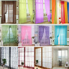Flower Floral Tulle Voile Window Curtain Drape Panel Sheer Scarf Valances Hot