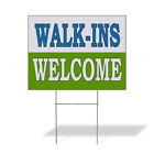 Walk-Ins Welcome Business Advertisement Plastic Yard Sign /FREE Stakes $20.99 USD on eBay