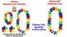 HAWAIIAN LEIS, BEACH HULA LEI SETS. WHOLESALE FANCY DRESS FLOWER LUAU GARLANDS