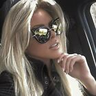 Cat Eye Oversized Fashion Style Women Sunglasses Mirrored Lens Oval Frame