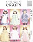 "McCall's 3627 18"" Doll Clothes  Craft Sewing Pattern"