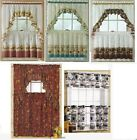 3-pc Tier Valance Rooster Carrot Radish Cabbage Bistro Orchard Diner FREE SHIP