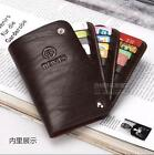 2016 New Credit Card Holder Case Men Women Leather ID Business Black Red Unisex