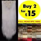 Real Good Clip in Hair Extensions 8piece 18clips Deluxe as Human Brown Black Red