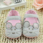 Cute Baby Girls Anti-Slip Mouse Crib Shoes Prewalker Soft Sole Newborn Infant