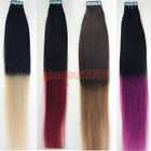 New T Colour PU Seamless Skin Tape in Remy Human Hair Extensions Straight
