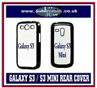 QTY 5 x GALAXY S3 or S3 MINI REAR COVER CASE for SUBLIMATION blanks covers cases