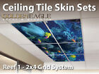 Ceiling Tile Skin Reef 1 Kit 2x4 Grid Glue Up Decorative ...