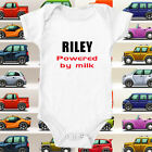 Personalised Custom ANY NAME Bodysuit Baby Vest Cute Gift Funny ALL SIZES #02