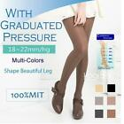 2 Pairs Compression Stockings 18-22mmHg Graduated Pressure FDA Approved