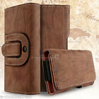 Sleek Leather Pouch Belt Clip Loop Holster Carrying Case for Apple/Samsung Phone