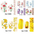 Flowers Self Adhesive Nail fashion Foils Stickers Nall Art Decals Manicure Wraps