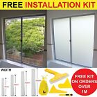 Privacy White Frosted Window Film Frost Etched Glass Sticky Plastic frosting