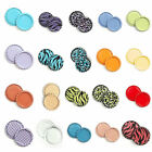 100pcs 1'' Flat Linerless Double Sided Painted Flattened Bottle Caps Craft E1