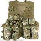 KIDS CAMOUFLAGE HUNTING ASSAULT VEST BOYS GIRLS AIRSOFT CADET WEBBING SOLDIER
