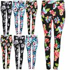 Ladies Stretchy Casual Party Leggings Womens Printed Full Ankle Length Jeggings