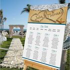 Personalised Wedding Table Seating Plan- BEACH ABROAD -4 SIZE OPTIONS