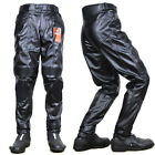 New Men's Motorcycle Dirtbike Pants Racing Synthetic Leather Armor Riding Gear
