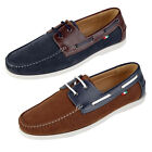 Duke D555 Luther King Size Big Tall Mens Suede PU Leather Slip On Boat Shoes