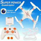 White 6-Axis Quadcopter Drone WIFI 0.3 MP Camera FPV RC Drone Helicopter UK