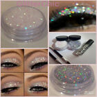 Glitter Eye Shadow Holo Silver+Irridescant Pearl + Fix Gel EXTRA GLAM Twin Set