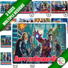 Marvels Avengers Icing Cake Topper Rectangle Edible Picture a