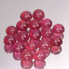 6mm Lot 1,2,5,10pcs Round Calibrated Cabochon Natural Gemstone Red Pink Ruby