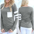 Hot Women Ladies Casual Crochet Pullover Long Sleeve Loose Tops T-Shirt Blouse