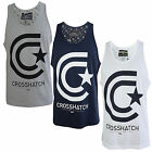 Crosshatch Kimmel Mens Vest New Sleeveless Muscle Back Gym Training Tank Top