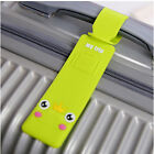 Korean Silicone Travel Luggage Tags Baggage Suitcase Bag Labels Name Address
