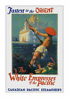 CP White Empress of the Pacific - Vintage Steamship Travel Poster