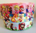Super Mario Luigi Brothers Bros Cart Game Grosgrain Ribbon for Hair Bows Cake 1m