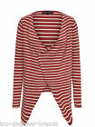 LADIES ONLY ONLBAM LONG SLEEVE STRIPPED CARDIGAN IN MARSALA (RUST) ALL SIZES