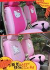 10 Pcs~~Universal Hello Kitty Car Seat Covers Front Rear Cover Accessory Sets