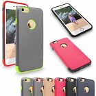 For Apple iPhone 6 6S 4.7 inch Hard & Soft Slim Fit Heavy Shockproof Rubber Case
