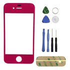 Multi-colors Front Outer Screen Glass Lens Cover Replacement for iPhone 4 4S