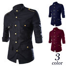 Popular Design Men's Shirts Casual Slim 3/4 Sleeve Business Luxury Dress Shirts