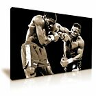 Mike Tyson Boxing Punch Sports Canvas Wall Art Picture Print Sepia Tone