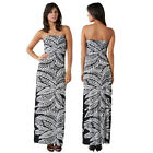 Stella Morgan Designer Womens Monochrome Leaf Print Bandeau Maxi Bustier Dress