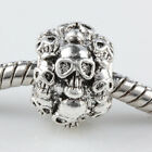 Wholesale Funny Skull Head Big Hole Charms Loose Beads Findings Fit Bracelet....