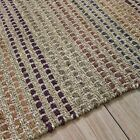 JUTE RUG TERRACOTTA STRIPES Conservatory Kitchen Rugs BNEW small Large