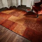 Thin Rug Terracotta Contemporary style design LARGE BNEW Chenille Pile