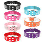 Bling Rhinestone PU Leather Dog Collars with D Ring For Large Dogs Pitbull M L