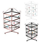 4 Tier Rotating Jewelry Stand Earring Necklace Display Holder Organizer