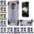For LG K7 Tribute 5 LS675 Escape 3 New Design Hybrid T Kickstand Cover Case