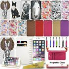 Wallet Leather Case Cover Flower For Apple Iphone 5 5S 5E / 5C / 6 6S /6 6S Plus