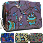 Ladies Faux Leather Owl Print Zip Small Coin Purse Womens Wallet Card Holder