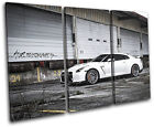 Nissan GT-R Import Grunge Urban Cars TREBLE CANVAS WALL ART Picture Print