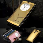 Thin Circle Quick Window Mirror Flip Smart Leather Case Cover Fr LG G4 G5   W